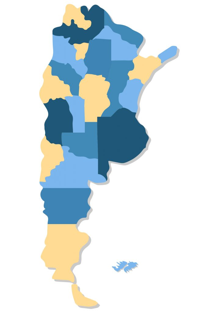 Mapa de Argentina Mudo