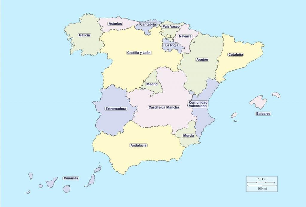 Mapa de españa comunidades