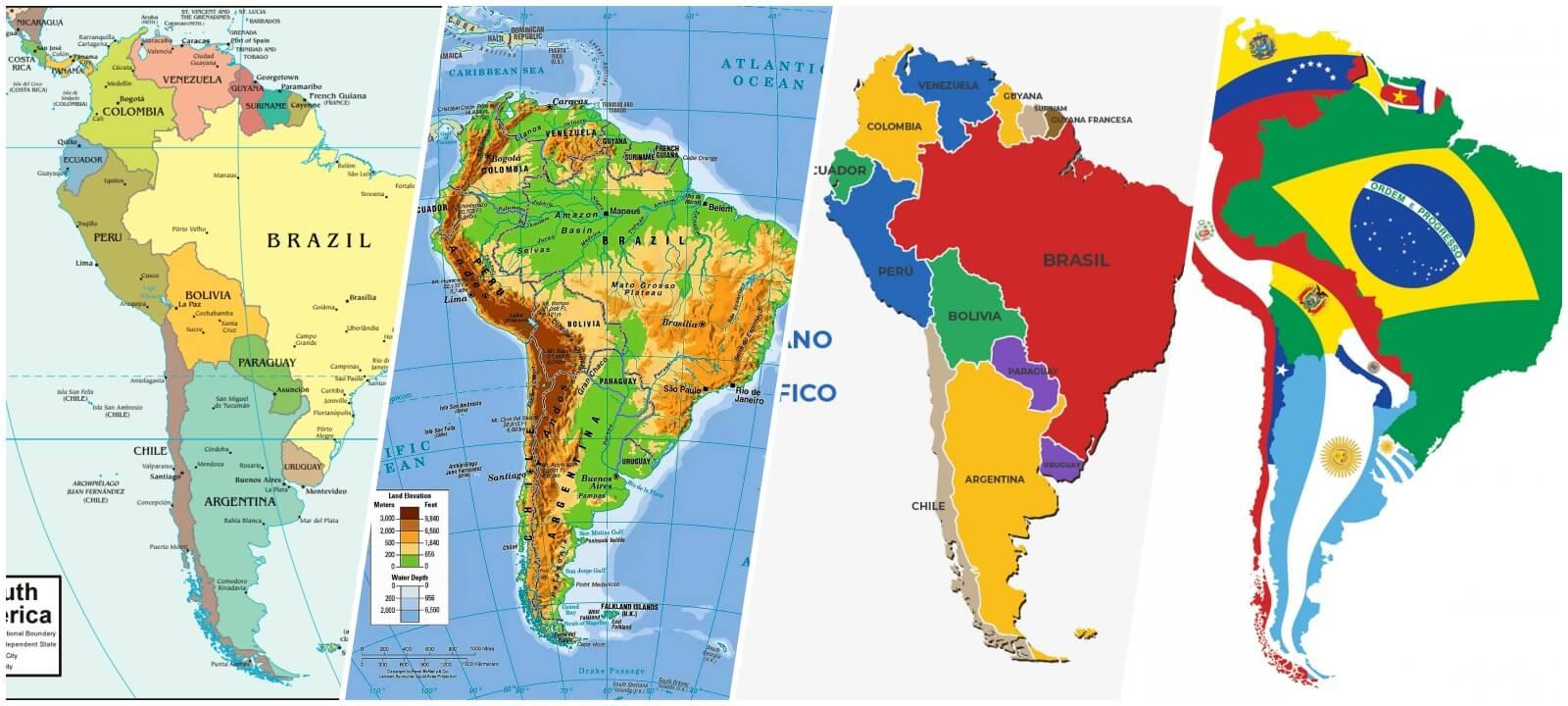 mapa america del sur