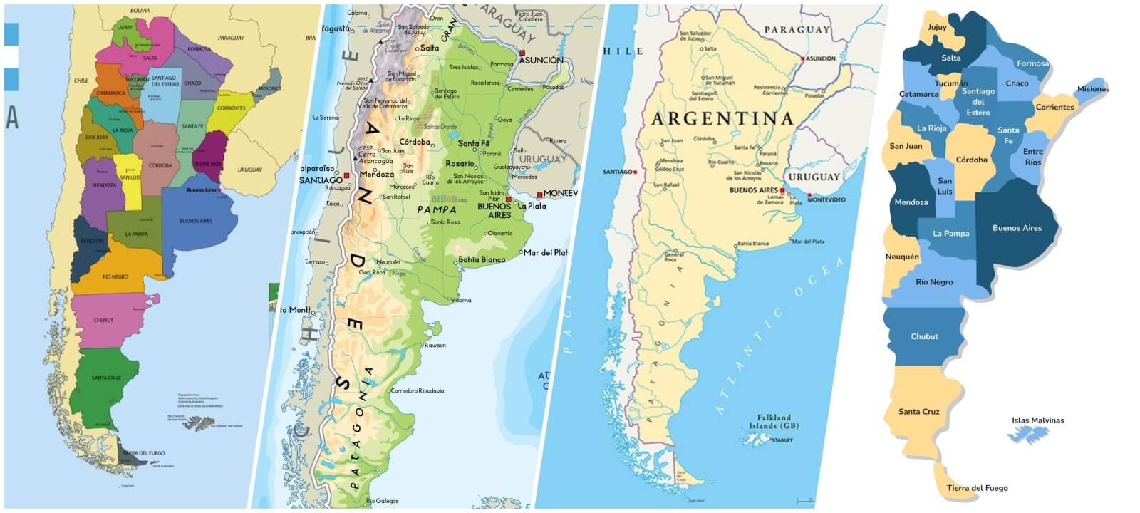 mapa de argentina para descargar