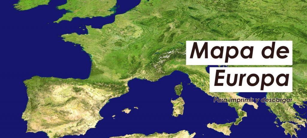mapa de Europa para imprimir